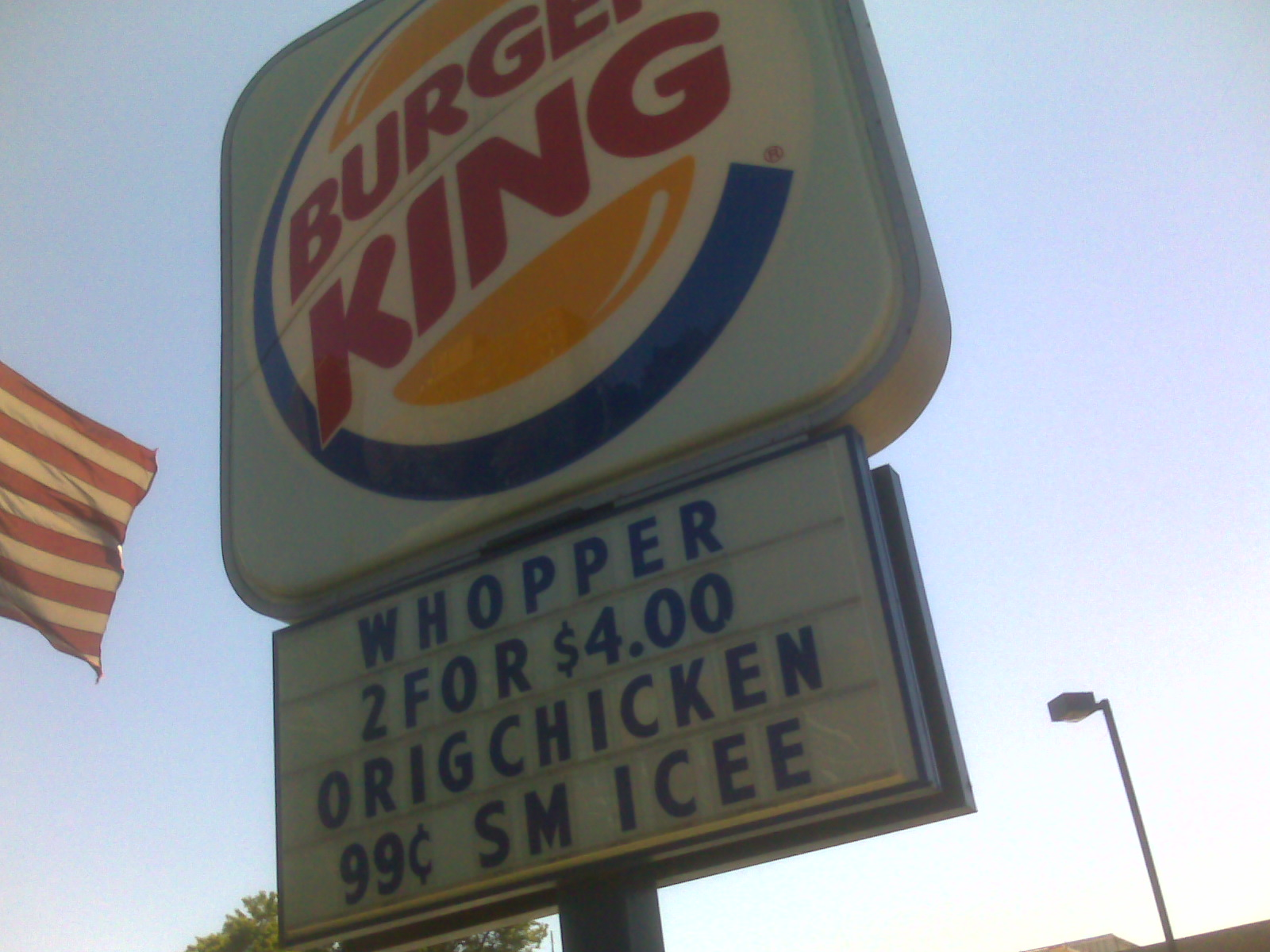 Two whoppers $4