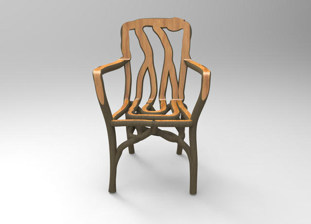3d Chairs: grown into shape