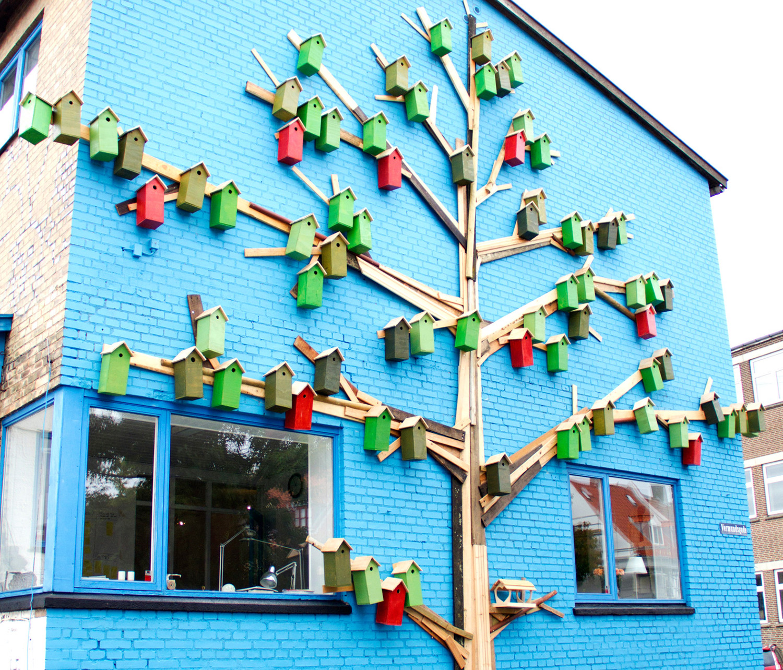 Bird house street art